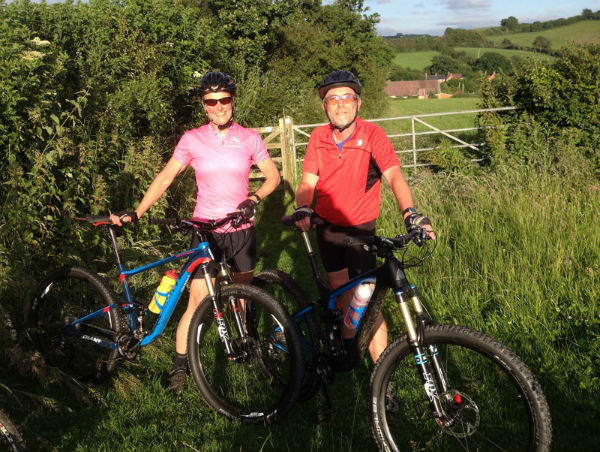 Riding our new bikes with Bridport Cycling Club